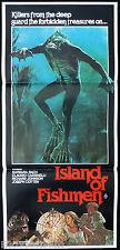 ISLAND OF FISHMEN Original Daybill Movie Poster Sci Fi Barbara Bach