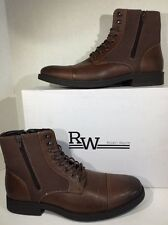 Robert Wayne Efny Mens Size 8 Brown Lace Up Ankle Boots Shoes ZD-967