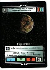 STAR TREK CCG Q CONTINUUM RARE CARD PLAGUE PLANET