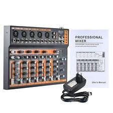 F7.2 Portable 7-Channel Mic Line Audio Mixer Mixing Console 3-band EQ USB E N3W3