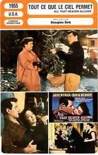 FICHE CINEMA : TOUT CE QUE LE CIEL PERMET - Wyman,Hudson,Moorehead,Sirk 1955