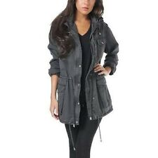 NWT Women's gray BUFFALO David Bitton Anorak JACKET w/hood Size X- Large