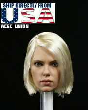 1/6 Black Widow Scarlett Johansson Head Sculpt 6.0 Light Blonde For Hot Toys USA