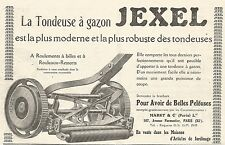 W7983 Tondeuse à gazon JEXEL - Pubblicità del 1926 - Old advertising