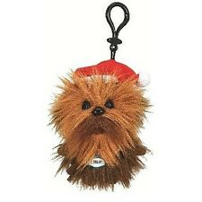 "STAR WARS SANTA CHEWBACCA 4"" TALKING PLUSH WITH CLIP NEW GREAT GIFT CHRISTMAS"