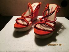 Prada Red Suede Wedges 37.5