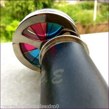 Vintage Style Brass Leather Kaleidoscope Double Wheel Collectible Antique Scope