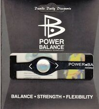POWER BALANCE WRISTBAND BRACELET ENERGY PERFORMANCE BLACK LARGE