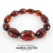 Faceted Cognac Genuine German Amber Bracelet W109 and  RRP£195!!!