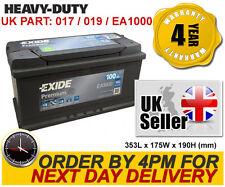 Exide EA1000 Car Battery -Mercedes A B C CL CLS CLK E G M ML S SL SLK V Class
