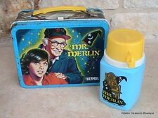 Vintage Metal Lunch Box & Thermos 1981 Mr. Merlin Columbia Pictures