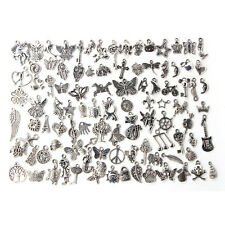 Wholesale 100pcs Bulk Lots Tibetan Silver Mix Charm Pendants Jewelry DIY Chic DS