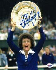 BILLIE JEAN KING SIGNED AUTOGRAPHED 8x10 PHOTO TENNIS LEGEND VERY RARE PSA/DNA