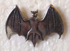 "(#A294AS) SILVER BAT Pewter Vest / Hat Pin 1.25"" x 1"""