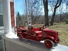 Vintage Buddy L No. 205B Hydraulic Aerial Ladder Fire Truck