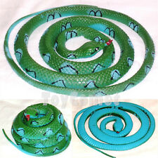 125cm Green Blue Fake Rubber Snake Realistic Reptile Animal Figure Toy Prop