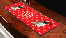 RED PUG DOG TO MY WONDERFUL WIFE ON VALENTINES DAY BAR RUNNER LOVE L&S PRINTS