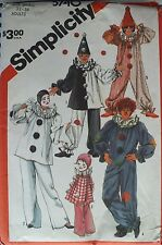 Amazing VTG SIMPLICITY 5740 Miss/Mens/Teens CLOWN COSTUMES Pattern S/32-34C UC