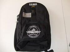 USMC MARINES AMPHIBIOUS RECON BACKPACK DAY PACK  BOOK  BAG BLACK  EMBROIDERED