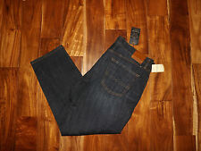 NWT Mens LUCKY 221 Original Straight Leg Dark Wash Denim Jeans 34 W x 32 L