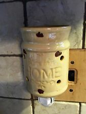 BLESS THIS HOME Ceramic Oil and Wax Tart Electric Wall Outlet Plug In Warmer