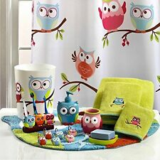 Hooty Bathroom Collection-Colorful Hoot Owl Bath Accessories Toothbrush Holder