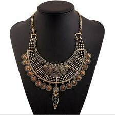 Gypsy Festival Bohemian Ethnic belly Turkish Retro Gold Coins Statement Necklace