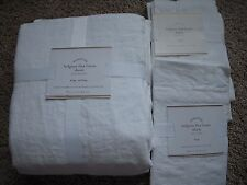 POTTERY BARN Belgian Flax Linen KING Duvet & 2 KING Shams NEW - White