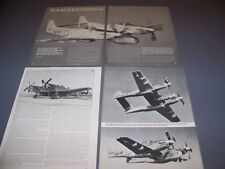 VINTAGE..RF-82B TWIN MUSTANG CAMERA SHIP..STORY/HISTORY/PHOTOS..RARE! (925)