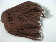 50pcs coffee Organza Ribbon Necklace Silk Cord Clasp charms pendant 430 mm