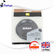 Nuevo Nikon LC-67 Snap-On Tapa Frontal del Objetivo 67mm