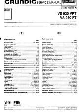 Grundig Original Service Manual für VS 930 VPT