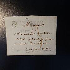 FRANCE MARQUE POSTALE LETTRE COVER 2 CHAVIGNON 53mm SANS DATE