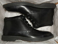 Men`s Sperry Commander Chukka Boots Leather Black SZ 8M