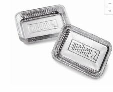 Weber 10-Pack 6-in x 8.625-in Disposable Aluminum Foil Grill Drip Pan BBQ Tool