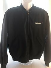 Nissan Jacket Mens Size Medium 65% Polyester 35% Cotton Navy Blue Made in USA