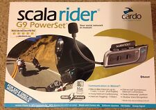 CARDO SCALA RIDER G9 POWERSET For 2 Riders, Bluetooth Motorcycle Helmet Comm