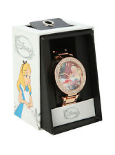 Disney ALICE WONDERLAND SLEEPING Wrist Watch GEMS Rose Gold Tone metal band NEW
