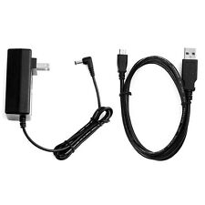 2A AC/DCPower Charger Adapter + USB PC Cord For Velocity Micro Cruz R102 eReader