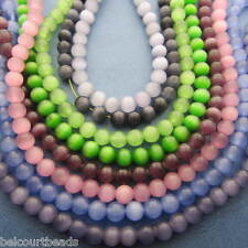 Over 500 Cats Eye Beads Glass 6mm Round Assorted Colors Beautiful!