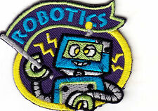 """ROBOTICS - IRON ON EMBROIDERED APPLIQUE PATCH - LEARNING -  SCHOOL - RESEARCH"