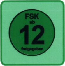 FSK 12 LABELS 100 Stück - (Label) - STICKER - 3,46 x 3,46 cm