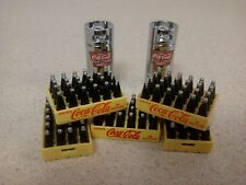 DANBURY MINT COCA COLA CASES, CANISTERS LOT OF 7..MINT...GREAT DIORAMA PIECES