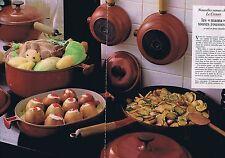 """PUBLICITE ADVERTISING 045 1978 LE CREUSET les """"mama"""" toutes rousses  (2 pages)"""