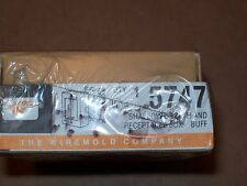 NEW  WIREMOLD BUFF 5747 SHALLOW SWITCH / RECEPTACLE SURFACE MOUNT RACEWAY P199