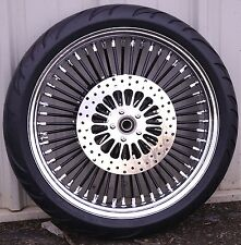 Black 21 3.5 52 Fat Spoke Mammoth Front Wheel Tire Package Harley Touring 2017 A