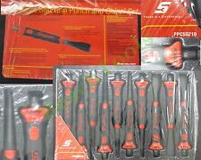 New Snap On Red Blk Soft Grip Flat Pin Punch Starter Chisel 10 Pcs Set PPCSG710