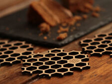 Bamboo Honeycomb Coasters Set Of 6, Eco-Friendly Dinnerware, Hexagonal Beer Mats
