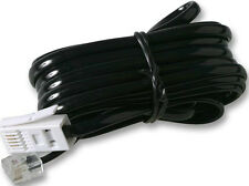 1m, BT Plug 431A to RJ11 6P4C Cross Wired Telephone Line Cord, 4 Pin Black Cable