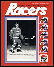 Wayne Gretzky - Indianapolis Racers Game Program Cover - 8x10 Color Photo